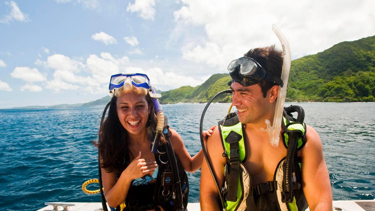 On a snorkeling trip in American Samoa