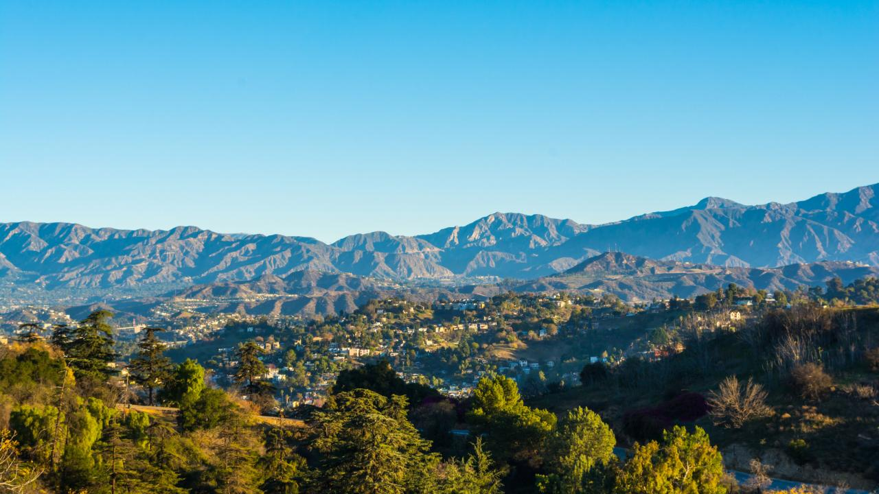 View of the San Gabriel Valley in California