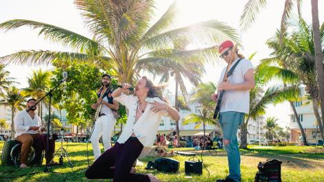 local band playing in Miami, Florida