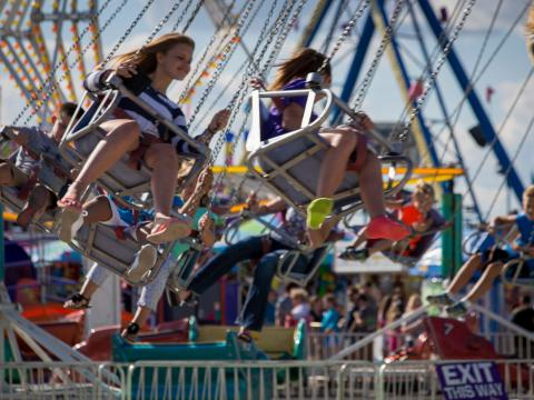 Riding high at the Illinois State Fair