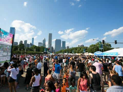Sampling the city's best flavors at the five-day Taste of Chicago in Grant Park