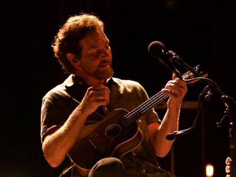 Eddie Vedder performing at the Ohana Music Festival in Dana Point, California