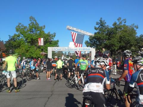The Tour de Big Bear cycling race in Big Bear Lake, California