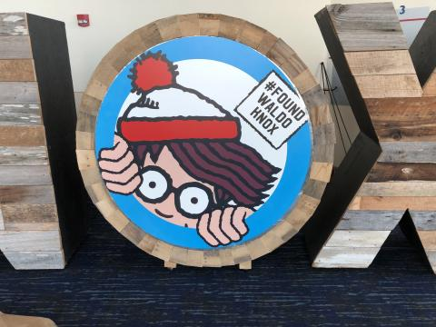 "One of the ""Waldo's"" to be found in Knoxville, Tennessee, during the Where's Waldo Scavenger Hunt"